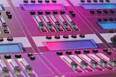 Music mixer. In rock club Royalty Free Stock Images