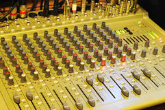 Music mixer. On the desk Royalty Free Stock Images