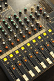 Music mixer. On the desk Stock Images