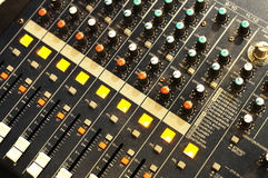 Music mixer. On the desk Stock Image