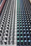 Music mixer. Close up shot of music mixer Stock Images