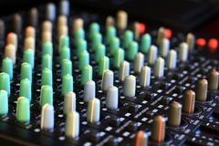 Music mixer. Image of a Music mixer with black background Stock Photo