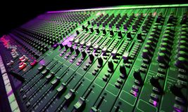 Music Mixer. Large Music Mixer desk at he Concert Stock Photography