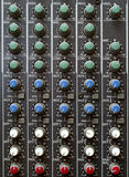 Sound Mixer Knobs Stock Photo