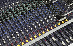 Music mixer. Large Music Mixer desk at he Concert Stock Photo