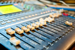 Music mixer. In studio closeup royalty free illustration