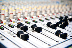 Music mixer. In studio closeup Stock Images