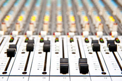 Music mixer. In studio closeup Royalty Free Stock Image