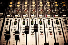 Music mixer. In studio closeup Royalty Free Stock Images