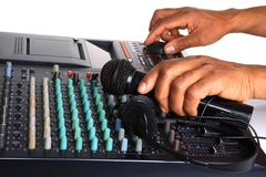 Music mixer Royalty Free Stock Images