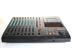 Music mixer. Image of a Music mixer with white background royalty free illustration