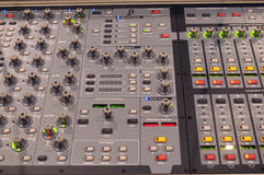 Music Mixer. Professional digital music mixer console Royalty Free Stock Image