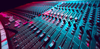 Music Mixer. Large Music Mixer desk at he Concert Royalty Free Stock Photos