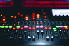 Music mixer console royalty free stock photography