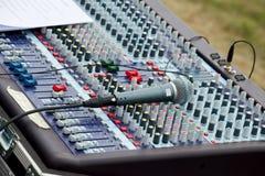 Music Mixer Desk Stock Photos