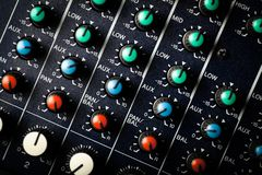 Music mixer desk Stock Image
