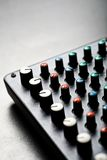 Music mixer desk Royalty Free Stock Photography