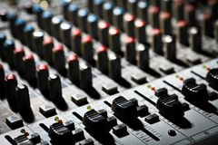 Music mixer desk Stock Photography