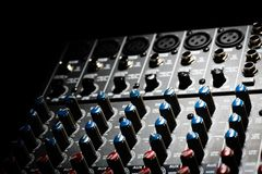 Music mixer desk Royalty Free Stock Photos
