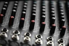Music mixer desk Stock Photography