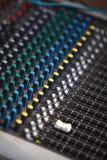 Music mixer desk Stock Images