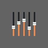 Music Mixer Icon Sound Studio Equalizer System Concept. Flat Vector Illustration Royalty Free Stock Images
