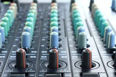Music mixer. Image of a Music mixer on a table royalty free illustration
