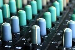 Music mixer. Image of a Music mixer on a table Stock Photos