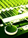 Music mixer mixing console grunge Royalty Free Stock Photography