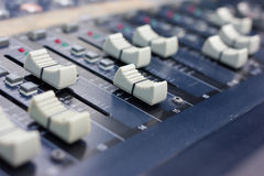 Music mixer (selective focus) Royalty Free Stock Photography
