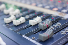 Music mixer (selective focus) Royalty Free Stock Image