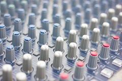 Music mixer (selective focus) Stock Photos