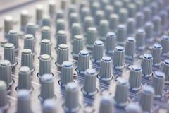Music mixer (selective focus) Stock Photography