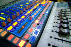 Music mixer. Sound music mixer control panel Stock Photography
