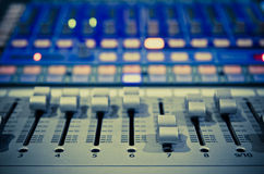 Music mixer. Sound music mixer control panel Royalty Free Stock Images