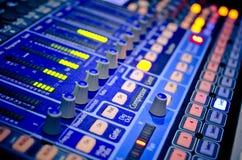 Music mixer. Sound music mixer control panel vector illustration