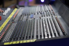 Music mixer. In a studio Royalty Free Stock Photo