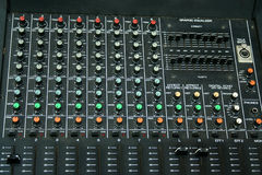 Music Mixing Board Royalty Free Stock Image