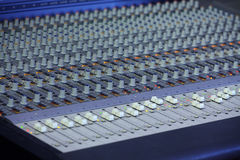 Music mixing console Royalty Free Stock Images