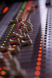 Music mixing console. Great music mixing console with many regulators Stock Images