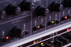 Music mixing console Stock Photography