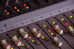 Music mixing console Stock Photo