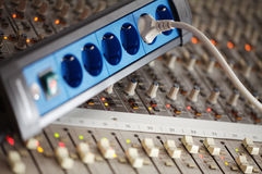 Music mixing console Royalty Free Stock Photography
