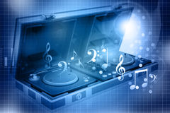 Music mixing control of Flight Case Stock Image