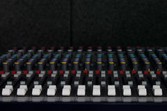 Music Mixing desk Royalty Free Stock Photo