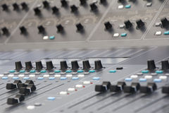 Music Mixing desk Royalty Free Stock Images
