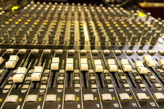 Music mixing station Royalty Free Stock Image