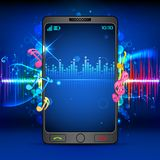 Music on Mobile Phone Royalty Free Stock Image