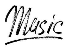 Music - Modern calligraphy royalty free illustration