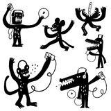 Music monsters doodles Royalty Free Stock Photos